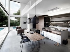 - Contemporary style wooden kitchen SieMatic PURE - S2 SE 4004 N - SieMatic