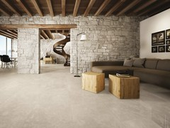 - Porcelain stoneware flooring with stone effect SIGHT BEIGE - CERAMICHE KEOPE