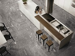 - Porcelain stoneware flooring with stone effect SIGHT GREY - CERAMICHE KEOPE