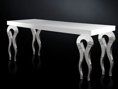 - Lacquered rectangular MDF table SILHOUETTE | MDF table - VGnewtrend
