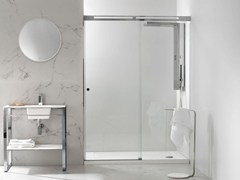 - Rectangular glass shower cabin SILKE 9 - Systempool