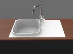 Lavello a una vasca da incasso filo top in ceramicaUP   Lavello a una vasca - SCARABEO CERAMICHE