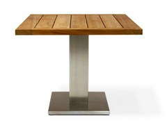- Square wooden high table SINGULAR - FueraDentro