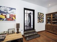 Porta a bilico in alluminio e vetro con asse lateraleSKD75 STEEL LOOK - ANYWAY DOORS