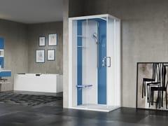 Box doccia angolare multifunzione con porta scorrevoleSKILL A100X80 - NOVELLINI