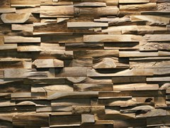 - Reclaimed wood 3D Wall Tile SKIN PANEL L - Teakyourwall