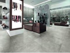 Pavimento in gres porcellanato effetto cementoSKYLINE GHIACCIO - AVA CERAMICA BY LA FABBRICA