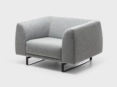 - Sled base fabric armchair TAILOR | Sled base armchair - La Cividina