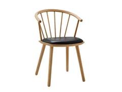 Sedia in legno con braccioliSLEEK LOW BACK | Sedia in pelle - BOLIA INTERNATIONAL