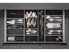 - Aluminium and wood Drawer insert Sliding drawer system - SieMatic