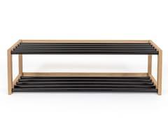 Scarpiera in acciaio e legnoSLUSSEN | Scarpiera - WOODMAN