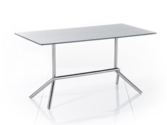 - Drop-leaf rectangular HPL garden table SMART SERIES | Rectangular table - solpuri