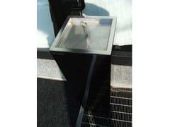 Posacenere da terra in acciaio inox & lamiera zincataSMOKER ONE - MARTIN DESIGN