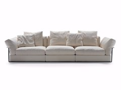 - 3 seater fabric sofa with removable cover ZENO | Sofa - FLEXFORM