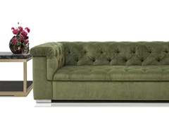 - Tufted upholstered 3 seater velvet sofa ROMA | Sofa - Formitalia Group
