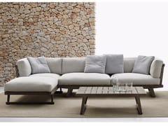 - Garden sofa with chaise longue GIO | Sofa with chaise longue - B&B Italia Outdoor, a brand of B&B Italia Spa