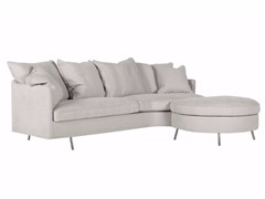 - Upholstered 3 seater sofa with footstool JULIA | Sofa with footstool - SITS