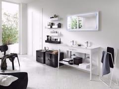 - Laminate bathroom cabinet / vanity unit SOFT CONSOLE - Composizione 1 - INDA®