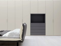 - Sectional wardrobe with built-in TV SOFT | Wardrobe with built-in TV - Silenia