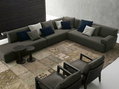 - Corner sectional fabric sofa with removable cover SOHO | Corner sofa - Poliform