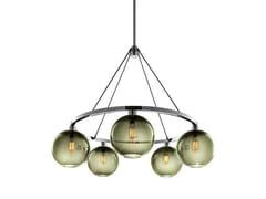 - Lampadario a LED in vetro soffiato SOLITAIRE | Lampadario - Niche Modern