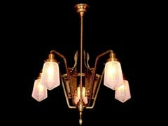 - Direct light brass chandelier SOLO IV | Chandelier - Patinas Lighting