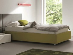 - Upholstered fabric single bed SOMMIER | Single bed - Dall'Agnese