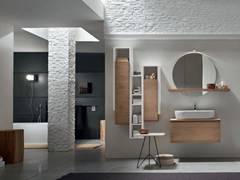 - Oak bathroom cabinet / vanity unit SOUL - COMPOSITION 01 - Arcom