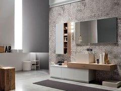 - Oak bathroom cabinet / vanity unit SOUL - COMPOSITION 02 - Arcom