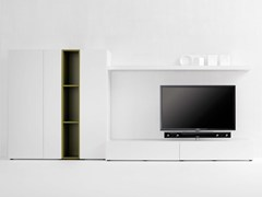 - Modular TV cabinet with shelves SOUND SYSTEM | TV cabinet with shelves - Silenia