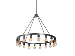 - Direct light metal chandelier SPARK 36 - Niche Modern