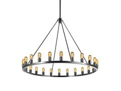 - Indirect light direct-indirect light metal chandelier SPARK 60 - Niche Modern