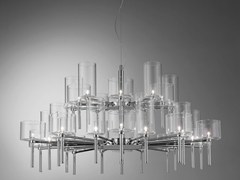 - Direct light crystal chandelier SPILLRAY | Direct light pendant lamp - AXO LIGHT