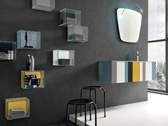 - Bathroom cabinet / vanity unit SPRING - COMPOSITION 2 - Arcom