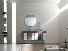 - Lacquered single vanity unit SPRING - COMPOSITION 8 - Arcom
