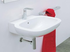 - Wall-mounted ceramic washbasin SPRINT 64 | Wall-mounted washbasin - CERAMICA FLAMINIA