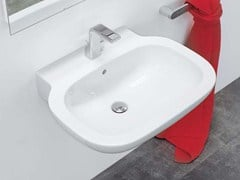 - Wall-mounted ceramic washbasin SPRINT 74 | Wall-mounted washbasin - CERAMICA FLAMINIA