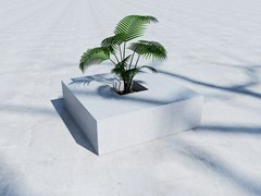 - Low concrete Flower pot SQUARE (100) - SIT
