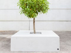 - Low concrete Flower pot SQUARE (150) - SIT