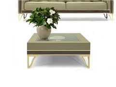 - Square leather coffee table for living room GRANADA | Square coffee table - Formitalia Group