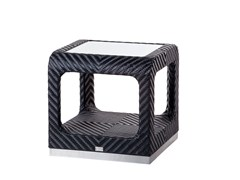 - Garden side table with storage space CRUISE | Square coffee table - 7OCEANS DESIGNS