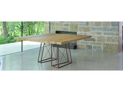 - Square briccola wood table ROXY | Square table - ITALY DREAM DESIGN - Kallisté