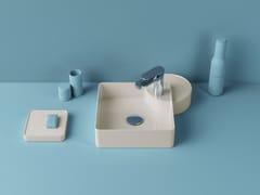 Lavabo da appoggio quadrato in ceramicaCARTESIO | Lavabo quadrato - ARTCERAM