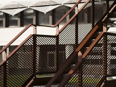 - Expanded metal Stair railing Stair railing - METAL DEPLOYE