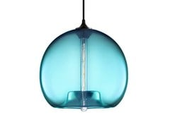 - LED handmade blown glass pendant lamp STAMEN - Niche Modern