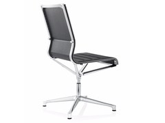 - Swivel leather task chair with 4-Spoke base STICK CHAIR ATK 4-5 STAR BASE | Leather task chair - ICF