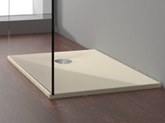 - Built-in rectangular shower tray STONE SAND - Alice Ceramica