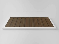 - Slatted rectangular wooden shower tray KAI | Wooden shower tray - Flora Style