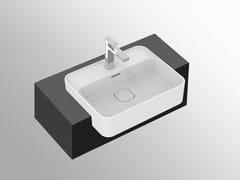 Lavabo a semincasso rettangolare in ceramica con troppopienoSTRADA II - T2993 - IDEAL STANDARD ITALIA