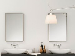 - Wall-mounted framed mirror STRATO | Wall-mounted mirror - INBANI